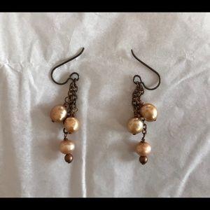 Dangling Freshwater Pearl Earrings NWOT